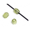 Fire polished 2mm Round Beads Strung Transparent Olivine